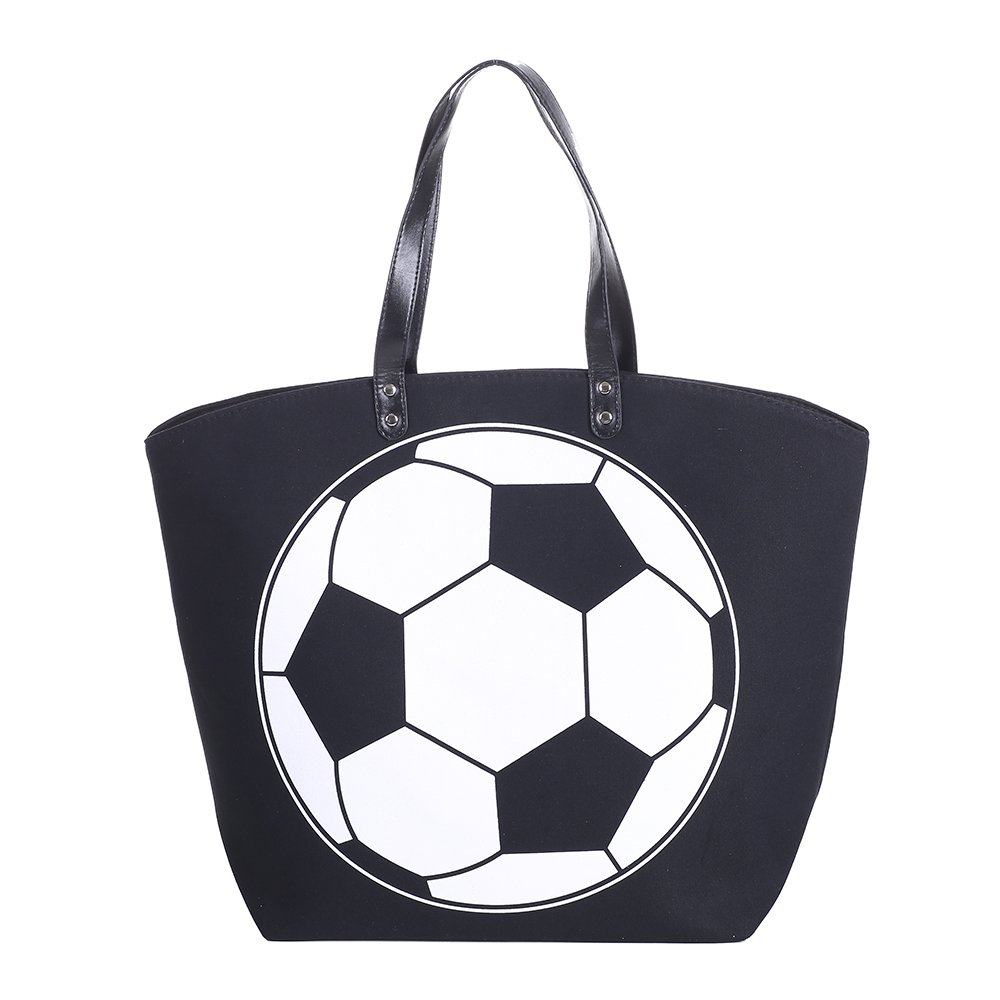 E-FirstFeeling Large Soccer Tote Bag Sports Prints Tote Soccer Mom Travel Bag (Soccer) by E-FirstFeeling (Image #2)