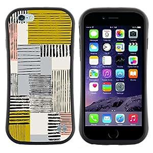 "Hypernova Slim Fit Dual Barniz Protector Caso Case Funda Para Apple (5.5 inches!!!) iPhone 6 Plus / 6S Plus ( 5.5 ) [Resumen Mostaza Amarilla Líneas cuadros""]"