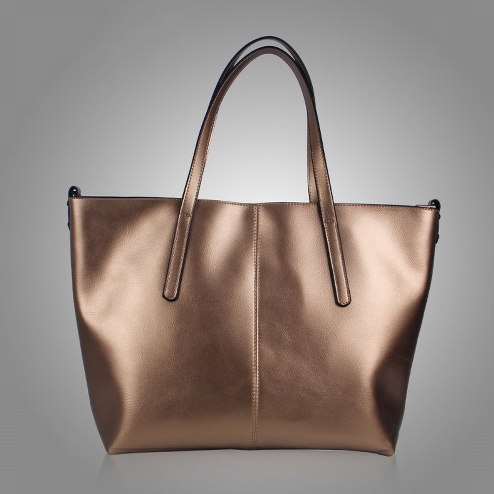 Wasser Weiches Leder Schulterdiagonale Handtasche , Bronze