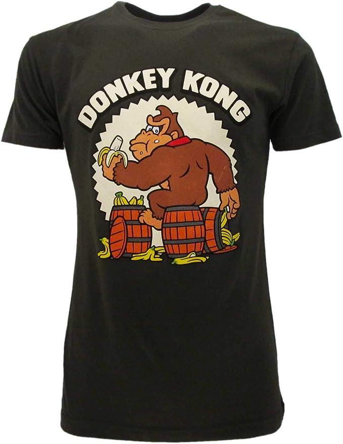 Official Donkey Kong Banana Barrels T-shirt, XS to XXL