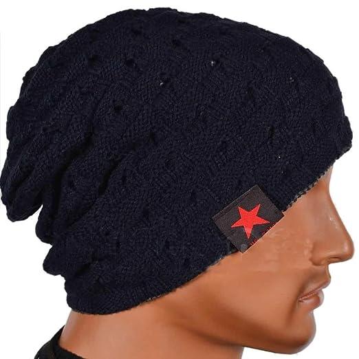 Men s Women s Knit Baggy Beanie Oversize Fashion Winter Hat Ski Cap Winter  Warm Sport Cap Christmas 5a509f4cd5b