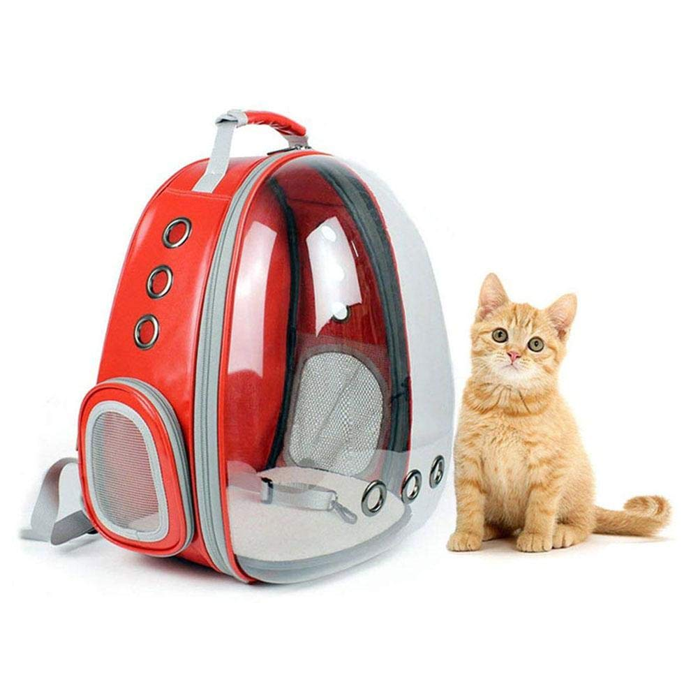 Amazon.com : KOBWA Pet Cat Space Capsule Backpack, Portable Transparent Carrier Backpack for Cats & Small Puppy - Safe and Breathable : Pet Supplies