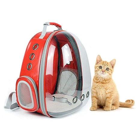 Leegoal Mochilas para Gatos y Perros Capsula, Campo de visión de 360 ° Portador para