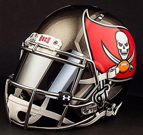 Riddell Speed Tampa Bay Buccaneers NFL Replica Football Helmet with Mirrored Eye Shield/Visor (Bay Replica Helmet Buccaneers Football Tampa)