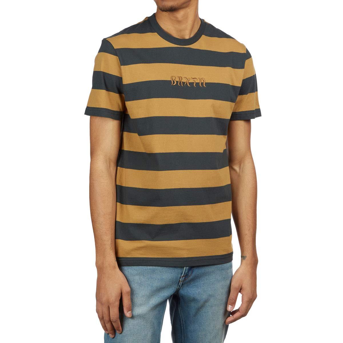 Brixton March Shirt Washed Black//Gold