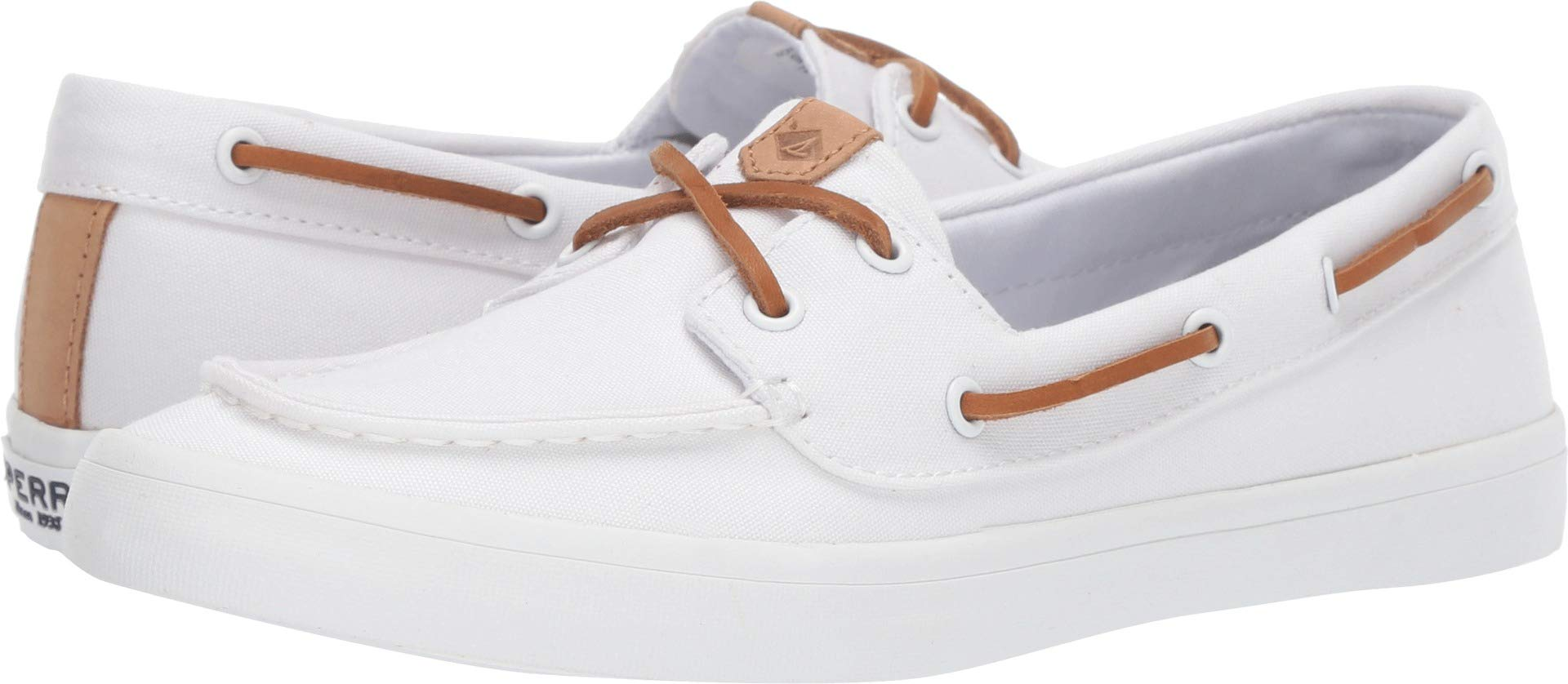 SPERRY Women's Sailor Boat Canvas White 7.5 M US by SPERRY