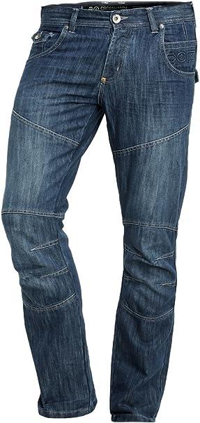 Mens Crosshatch Straight Leg Fit Denim Jeans /'Newport New/' Dark Wash