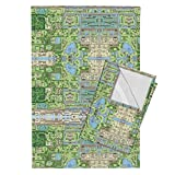 Roostery Video Game Tea Towels Z-Scape by Ldqcanada Set of 2 Linen Cotton Tea Towels