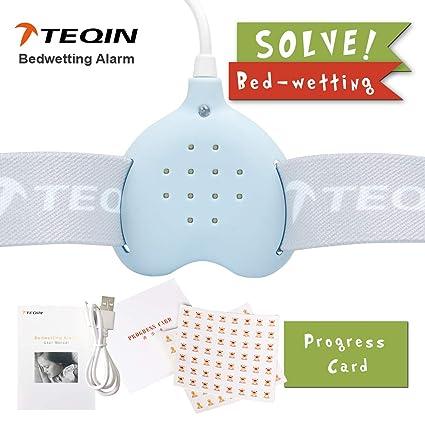 3in1 Bed Child Rechargeable Bedwetting Alarm Enuresis Baby Monitor para niños niñas Adultos Incontinence Seniors sonido fuerte vibrante detección de ...