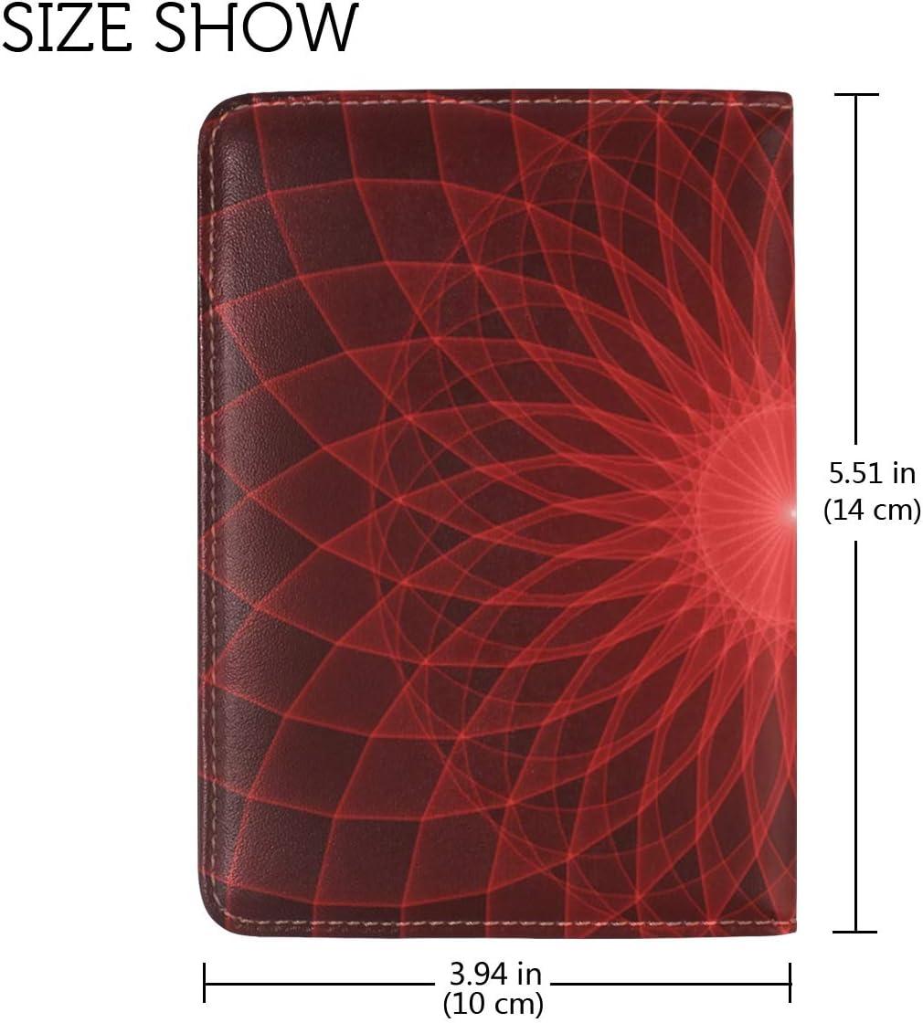 LEISISI Mandala Genuine Real Leather Passport Holder Cover Travel Case