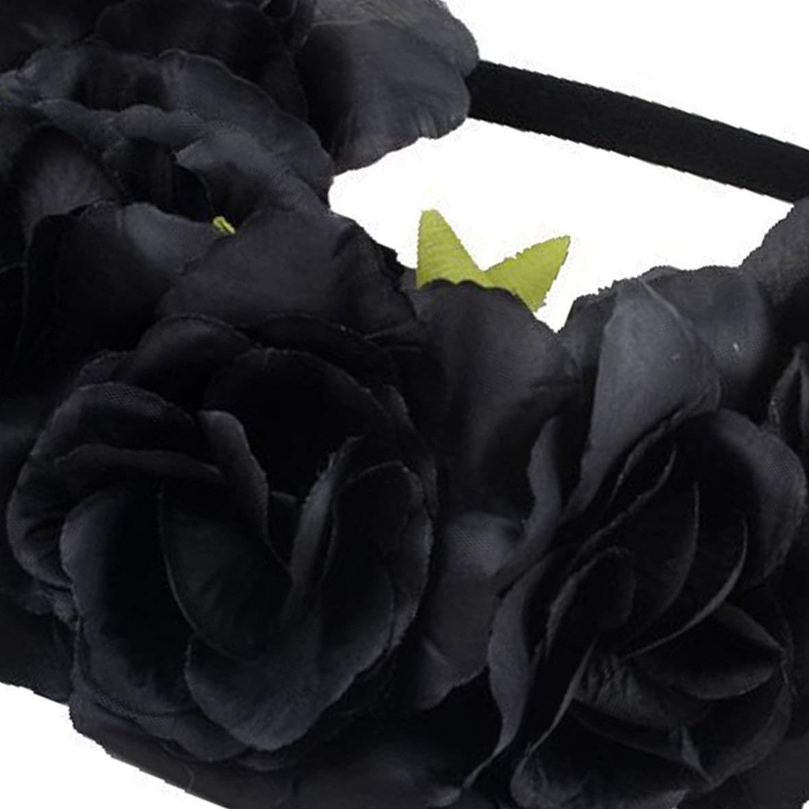 Heaviesk Moda Mujer ni/ña Flor Banda para el Cabello Hueco el/ástico Banda para el Cabello Diadema Tocado para el Banquete de Boda Headwear Accesorios de fotograf/ía