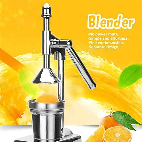 Amazon.com: Citrus Juicer Hand Press, Manual Juicer Extractor, Portable Stainless Steel Hand Orange Lemon Lime Squeezer Press Stand Juicer for Lemons, ...