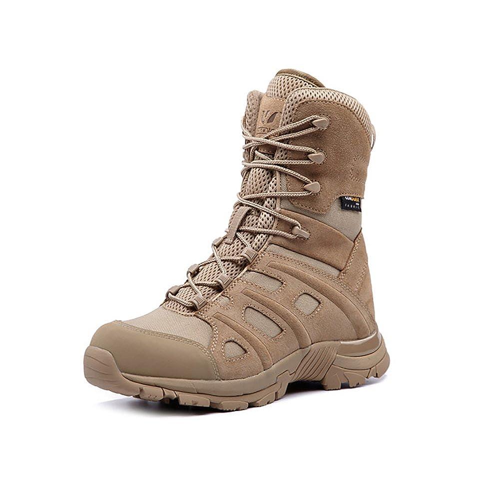 Suetar Hohe Leder Combat Stiefel Mode Outdoor Taktik Wanderschuhe Atmungsaktiv Rutschfest und Wasserdicht Militär Kletterstiefel