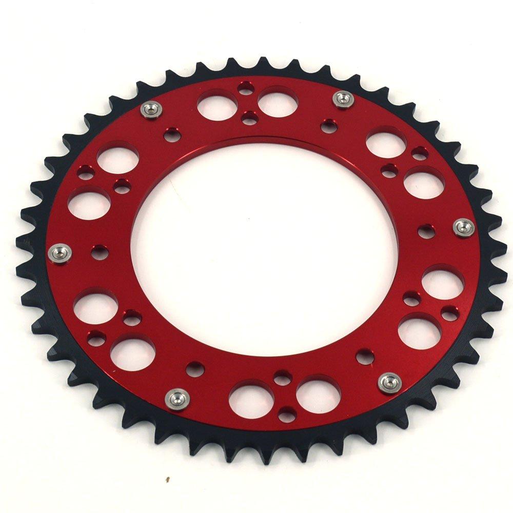 JFG RACING CNC 48T Rear Chain Sprocket For Honda CR125R 87-07 CR250R 84-08 CR500R 86-01 CRF150F CRF230F CRF230L CRF230M 03-12 CRF250R CRF250X 04-16 CRF450R 02-16 CRF450X 05-16 XR250R 97-04