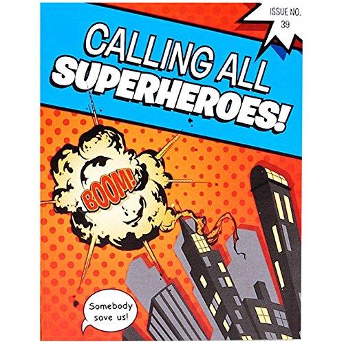 Hero Villain Party Costumes (Superhero Comics Party Supplies - Invitations (8))