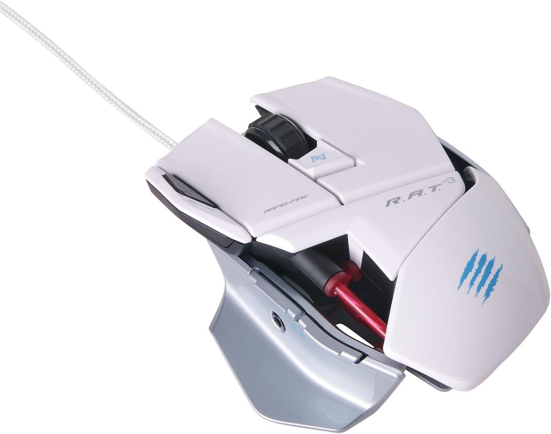 Mad Catz - Ratón Para Gaming RAT 3 , Color Blanco (PC)
