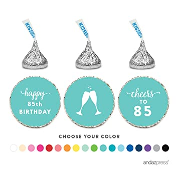 Andaz Press Chocolate Drop Labels Trio Fits Hersheys Kisses Party Favors 85th Birthday
