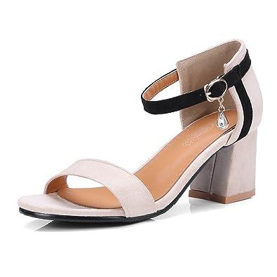 Talon Femme Cheville Soirée Style Chaussures Ouvert Hauts Bout Bloc Sandales Eté Bride Oaleen Suède hQrtsd