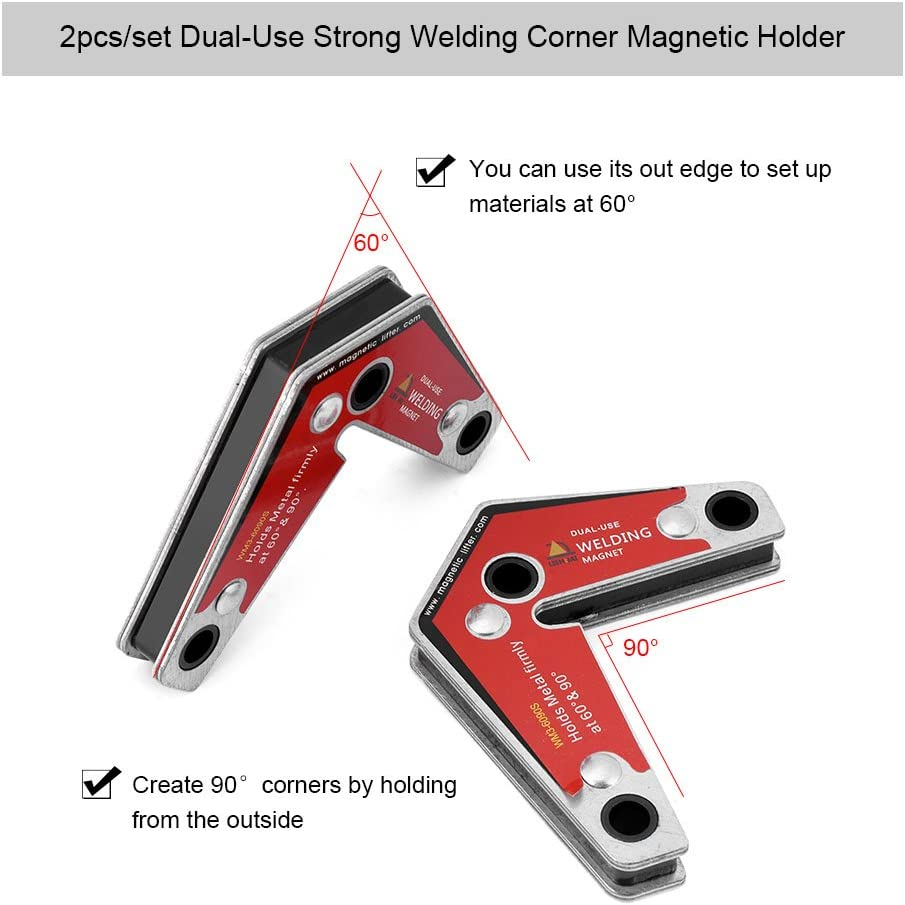 Welders Clamp Angled Soldering Holder Accessory 27.2KG Welding Arrow Magnet