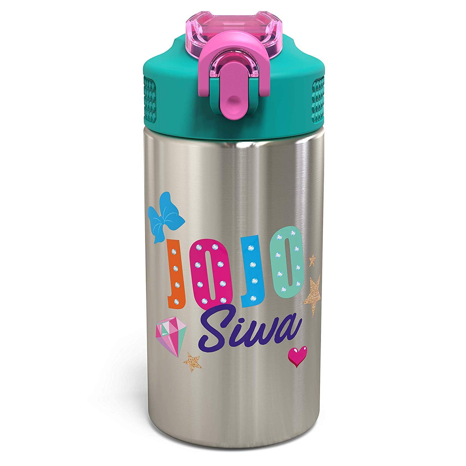 Amazon.com: Zak Designs Jojo Siwa – Botella de acero ...