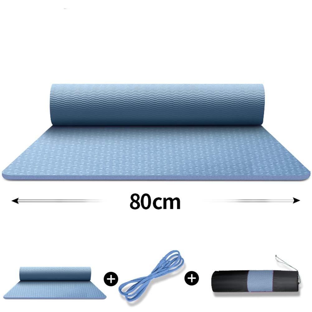 ヨガマット滑り止めカーペットを厚く広げるヨガ/エクササイズ/体操のために男性と女性を183 X 80cm長くする B07MJP4HBG 8MM|E E 8MM