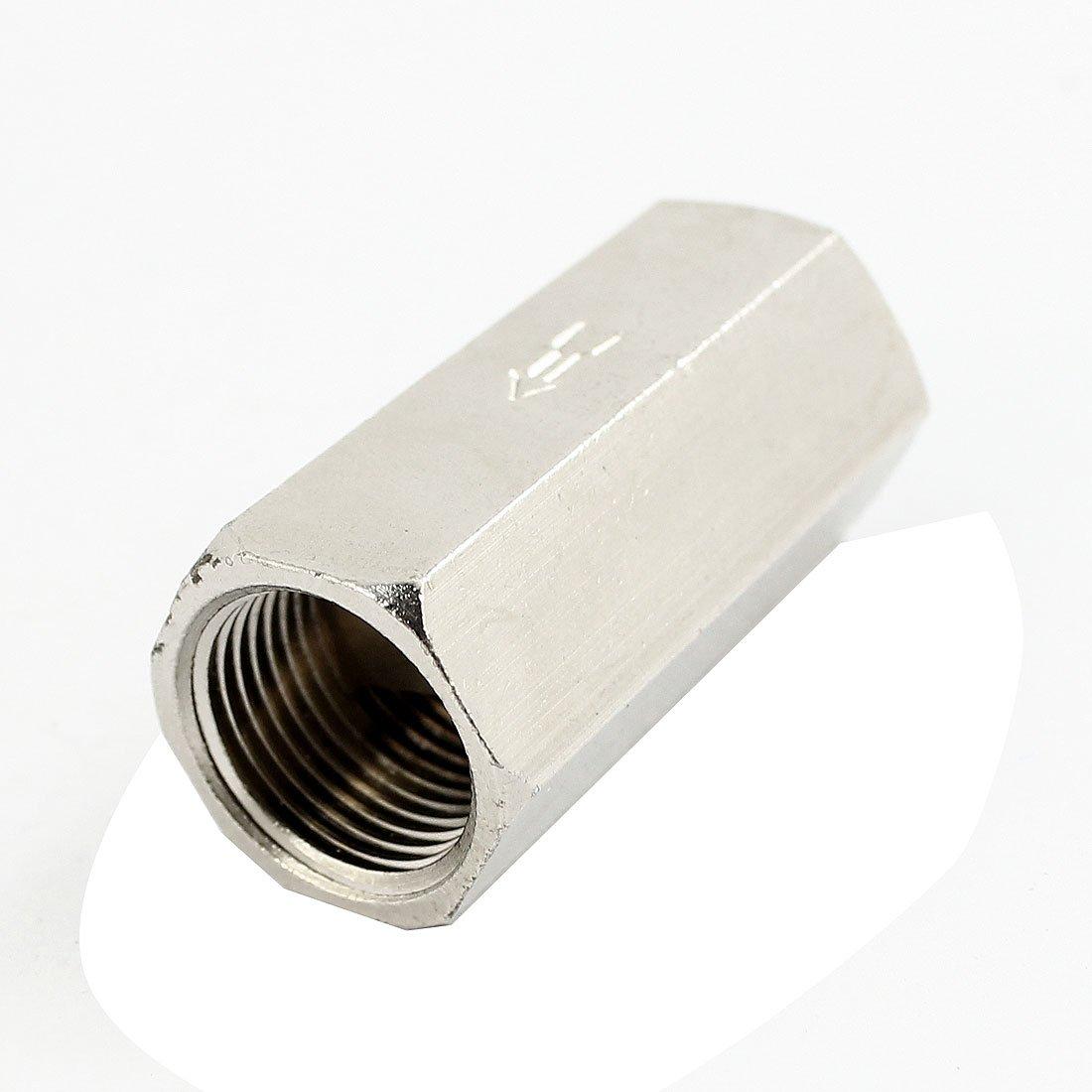 3//8PT rosca recta Aire neum/ático /único Camino v/álvula de retenci/ón tono Plata