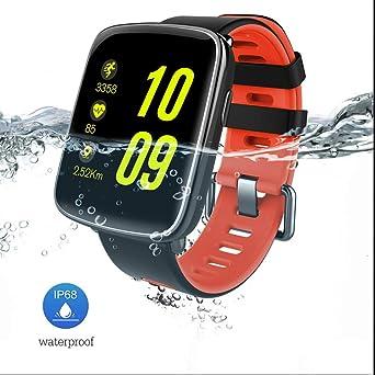 Montre Connectée Sport,Smartwatch IP68 Étanche Bluetooth Moniteur de Fréquence Cardiaque À Distance Caméra Podomètre