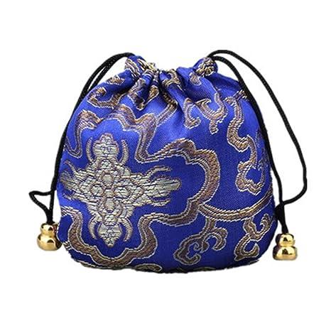 Amazon.com: Lilith Li 4.3 x 4.3 inch Seda Cordón Bolsa Bolsa ...