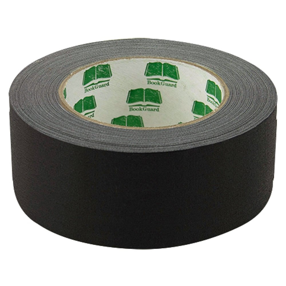 BookGuard Premium Cloth Book Binding Repair Tape 2''W x 30yd Roll (Black)