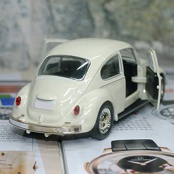 Finance Plan Mini Vintage Beetle Diecast Pull Back Car Model Toy for Kids Desk Decorations Blue