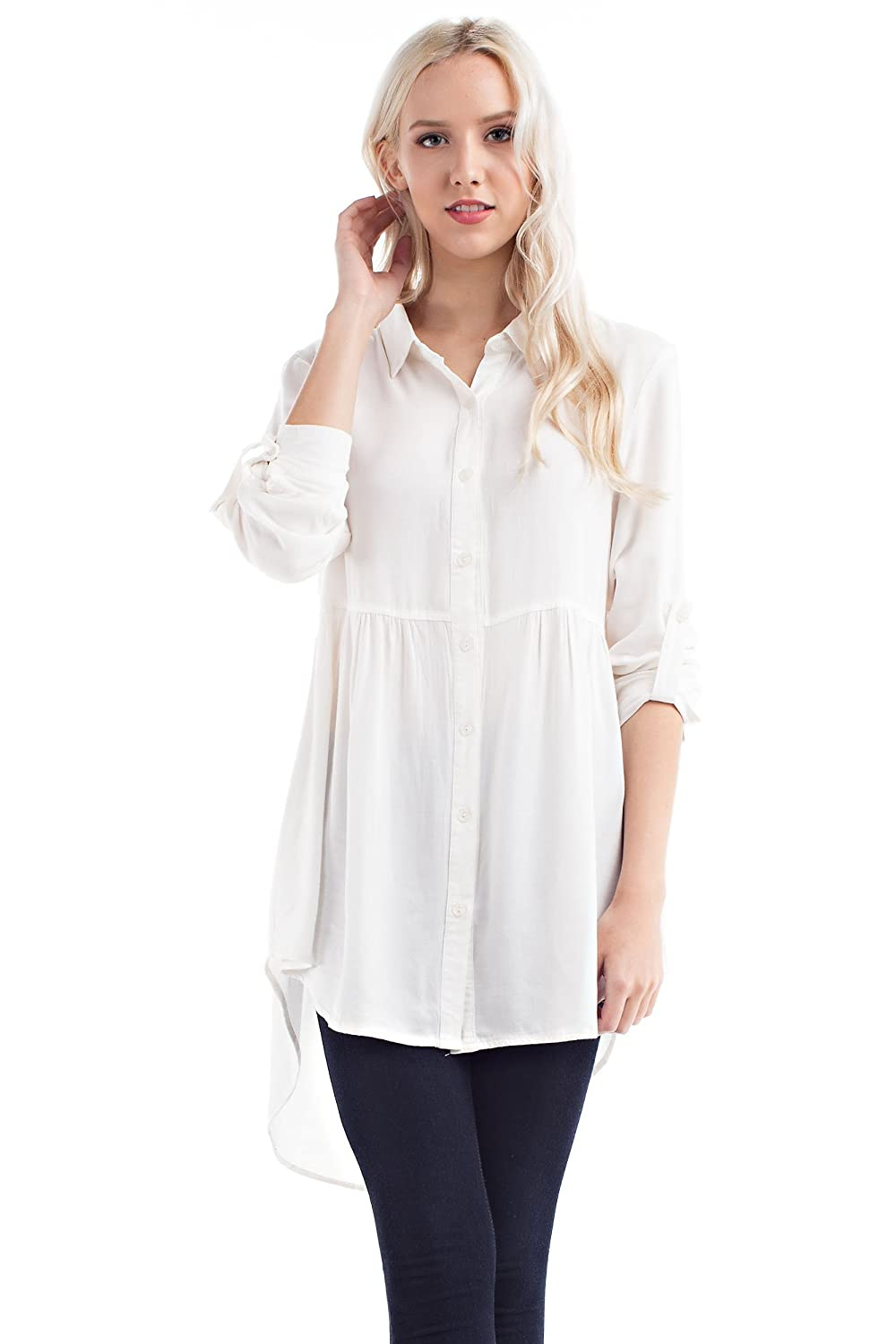 Solitaire Ivory High Low Tunic