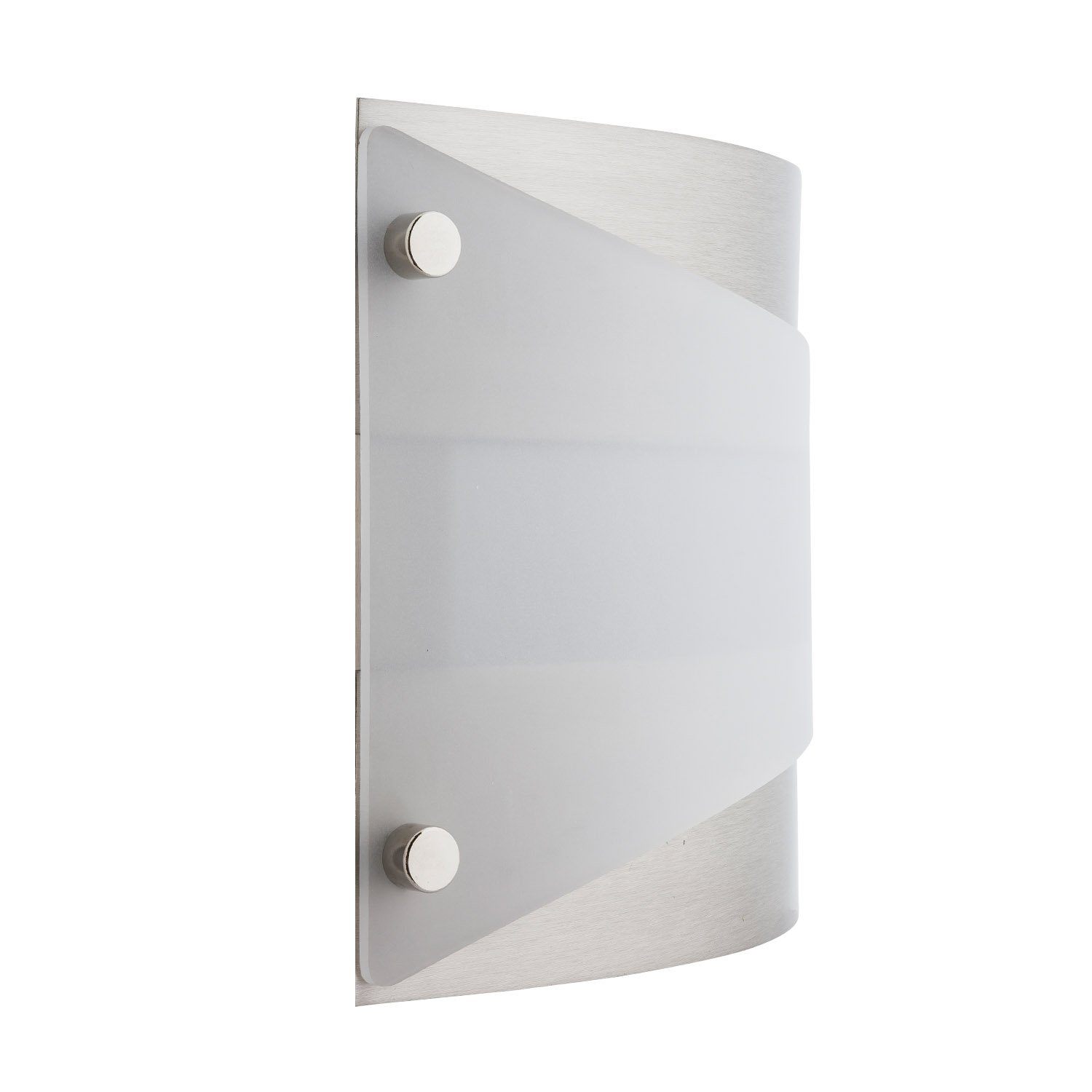 Acciaio Wall Sconce One-Light Lamp Brushed Nickel with White Diffuser - Linea di Liara LL-SC6-BN by Linea di Liara (Image #3)
