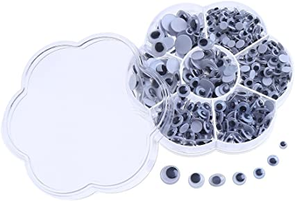 Asso C9O5 700 pcs Wiggle Eyes Self Adhesive Googly Eyes DIY Scrapbooking Crafts