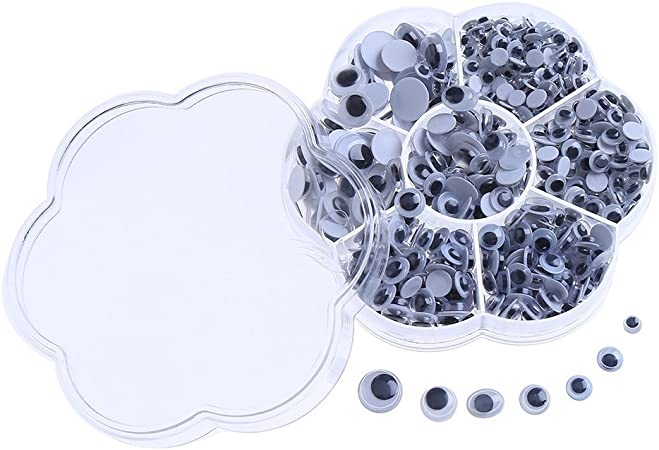 zanyu Googly Eyes for Crafts,700Pcs Googly Eyes Self Adhesive Assorted Sizes for Creative DIY Crafts Add Humor to The Festivals