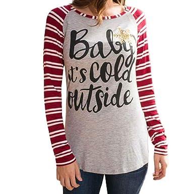 Camisetas Mujer SHOBDW Blusa De La Impresión De La Letra De La ...