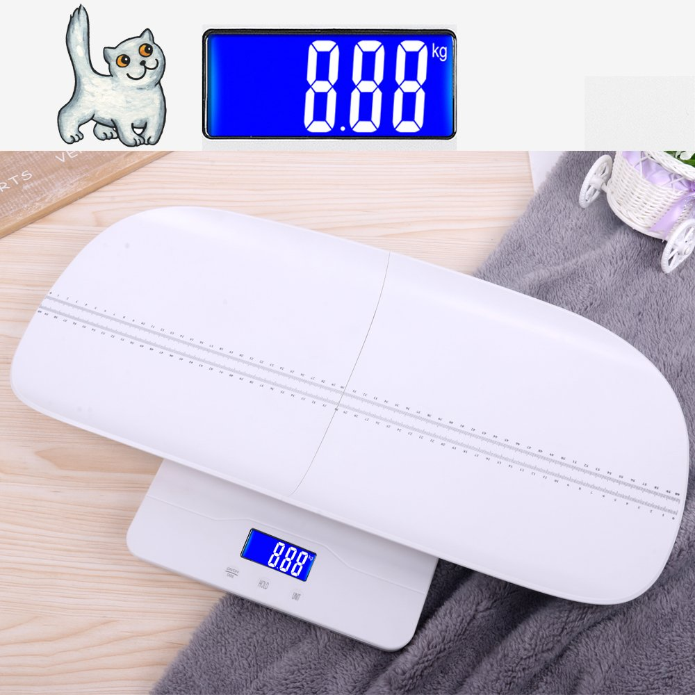Multi-Function Digital Pet Scale to Measure Dog and Cat Weight Accurately Up to 220 Lbs, Precision at ± 10g, Blue Backlight, Especially for Pregnant Cats and Baby Pets (60 cm) by TeaTime (Image #6)