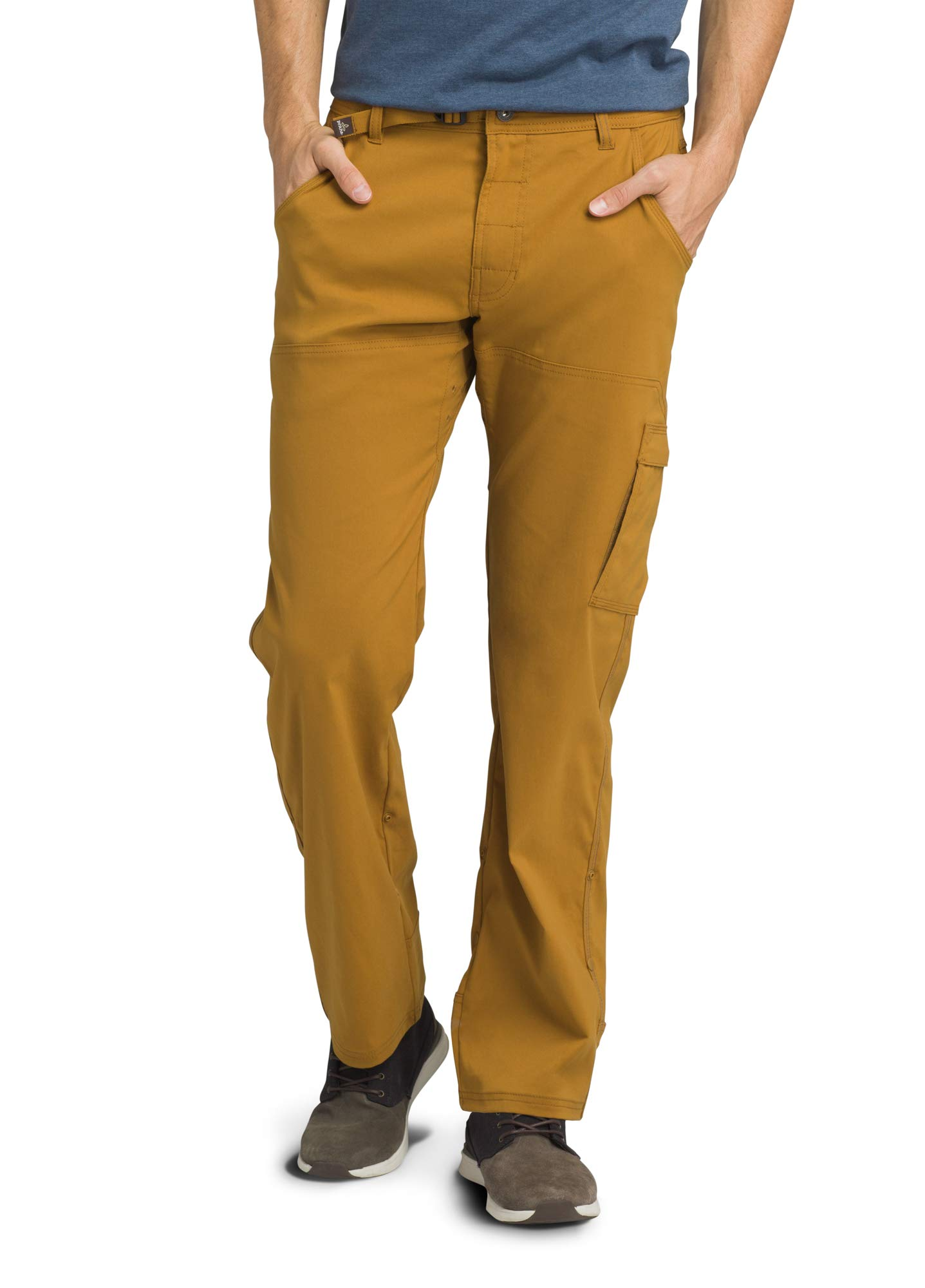 prAna - Men's Stretch Zion Lightweight, Durable, Water Repellent Pants for Hiking and Everyday Wear, 34'' Inseam, Bronzed, 34 by prAna
