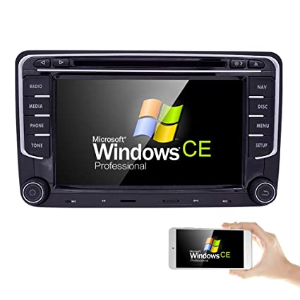 Auto Car SUV CD DVD GPS Radio Player Window CE fit for VW Volkswagen CC  Jetta Passat Tiguan Polo Golf Skoda Seat 7 Inch Free Map Navigation Mp3  Player