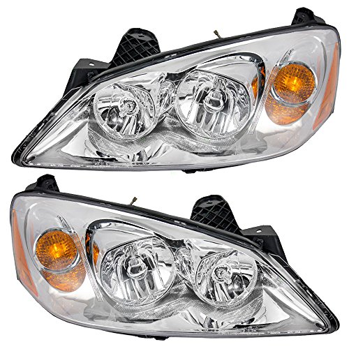 Headlights Headlamps Driver and Passenger Replacements for 05-10 Pontiac G6 20821143 20821144