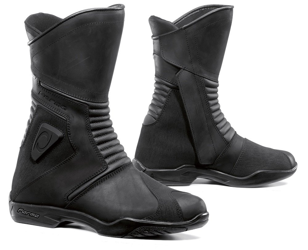 Black, Size 8 US//Size 42 Euro FORMA Voyage Touring Motorcycle Boots