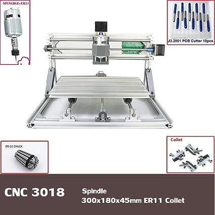 CNC máquina de grabado 3018 para grabado PCB fresadora madera Router zona de trabajo 300 x