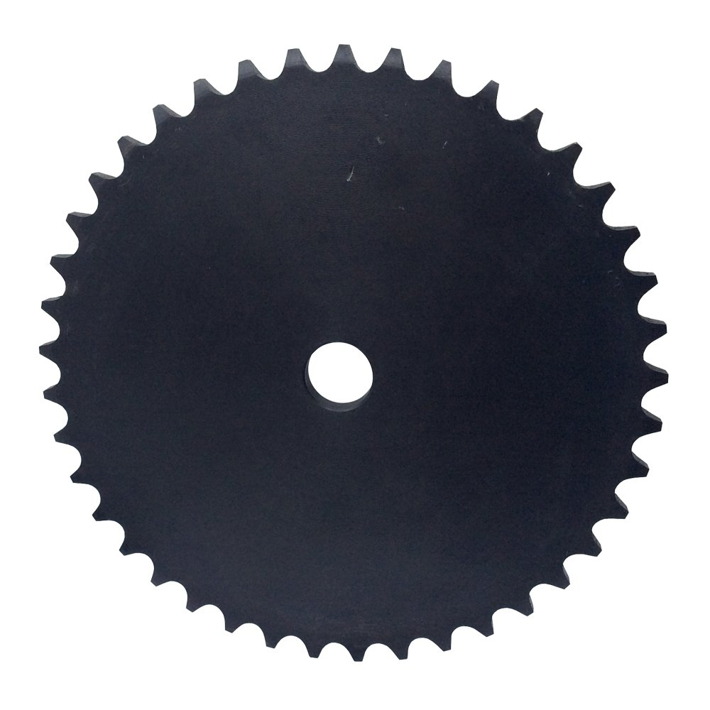 KOVPT # 40 Chain Plate Sprocket 34 Teeth Bore 0.594' Pitch 1/2' OD 5.696' Carbon Steel Black 1Pcs KANZNAN