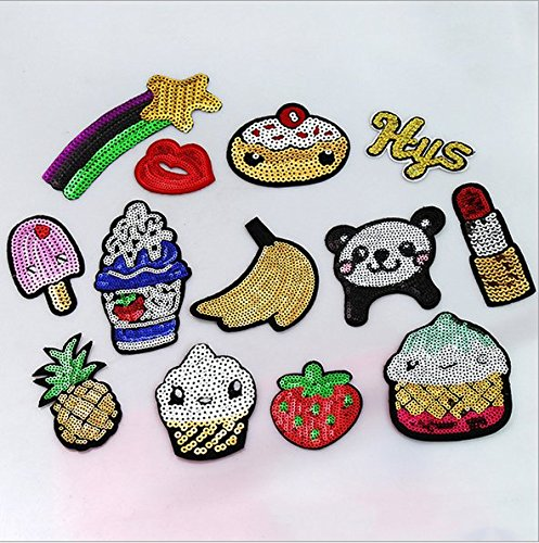 Embroidered Patch Set Twinkle Pineapple Strawberry product image