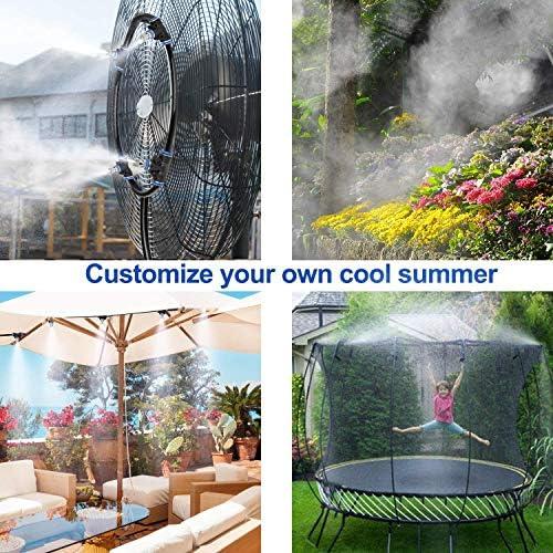 ミスト冷却システム、パティオガーデン温室トランポリンへの適用、庭の水やり、テラスの冷却など,9M