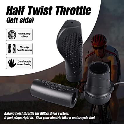 Electric Bike Right Hand Twist Throttle Speed Control for BAFANG Mid Drive Motor