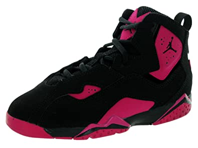 9318cdd3c8ad Image Unavailable. Image not available for. Color  Nike Jordan Kids Jordan  True Flight Bp Black Black Sport Fuchsia Basketball Shoe 3