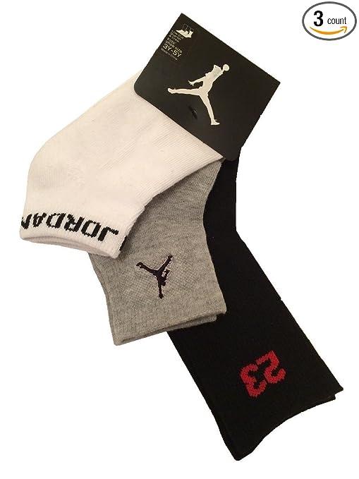 Amazon.com: Nike Air Jordan 3 Pack Athletic calcetines de ...