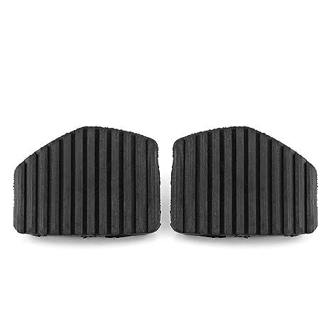 Qiilu 2 piezas cubierta de goma del pedal de freno del embrague: Amazon.es: Coche y moto