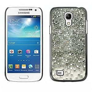 TopCaseStore / la caja del caucho duro de la cubierta de protección de la piel - Polygon Silver Mirror Reflective 3D - Samsung Galaxy S4 Mini i9190 MINI VERSION!