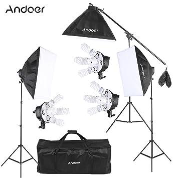 Andoer Photo Studio Photo Andoer Video Softbox Kit D Eclairage W